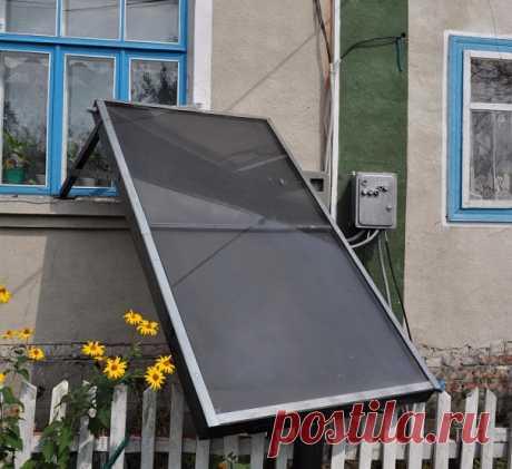 Как сделать недорогой солнечный коллектор своими руками Солнечные коллекторы - хороший способ сэкономить энергоресурсы.Солнечная энергия - бесплатная, так по крайней мере 6-7 месяцев в году можно получать теплую воду для хозяйственных нужд.А в остальные месяцы - еще и помогать системе отопления.
