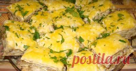 Восхитительные тартинки из лаваша с начинкой из грибов, моркови и лука