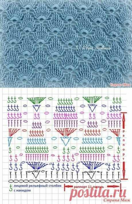 12 схем узоров с листочками | Сашка-Вязашка | Яндекс Дзен
