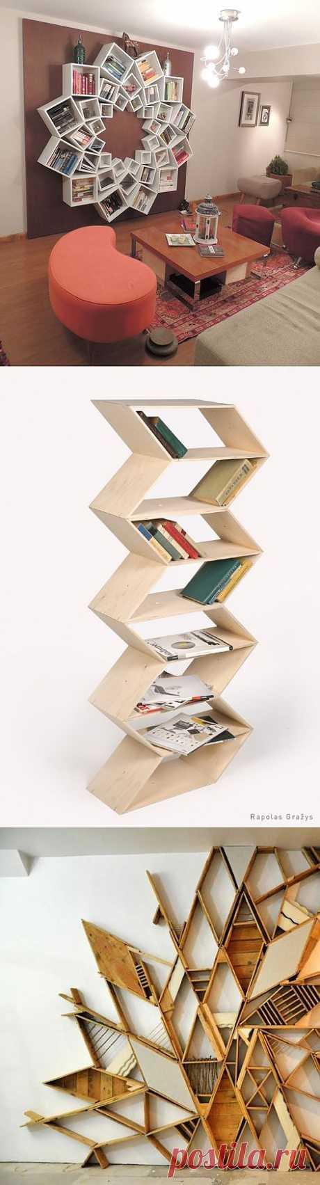 Еще три креативных стеллажа для книг / Книги в интерьере / Модный сайт о стильной переделке одежды и интерьера