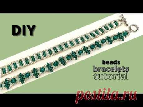 How to make bracelets. Easy tutorial. diy beads bracelets. beginner beading. diy jewelry