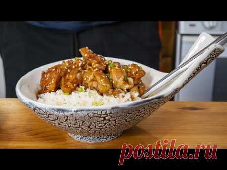 Курица Терияки с рисом. Неожиданное свойство соуса. Простейший ужин в японском стиле.