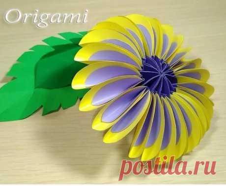 Осенние цветы-оригами #поделки #цветы #оригами