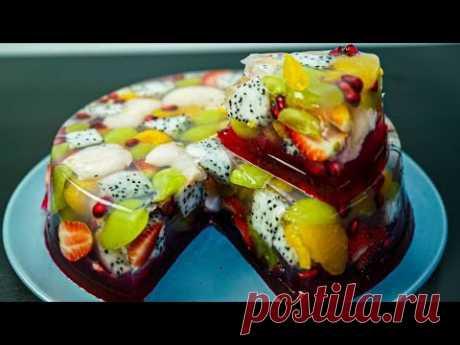 Agar Agar Cermin Buah   Puding Buah   Fruit Cake   MyDapur Panas
