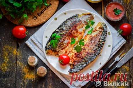 Скумбрия, запеченная в рукаве в духовке: рецепт с фото пошагово