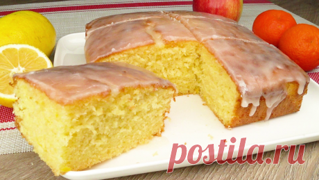 Крайне простой и быстрый рецепт лимонного пирога (получается всегда)   Вкусная кухня. Простые рецепты   Яндекс Дзен
