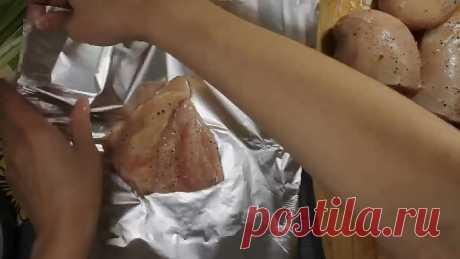 Пикантная грудка с консервированными ананасами
