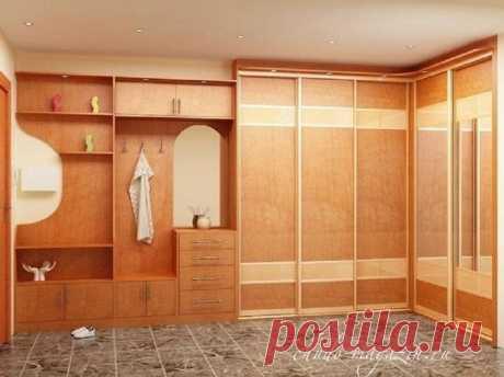 Угловой шкаф купе в прихожую большого размера на заказ. В интернет-магазине Chudo-magazin.ru в Москве.
