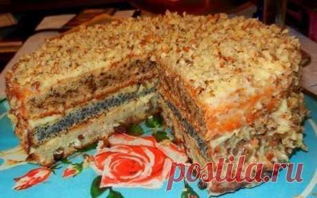 Как приготовить популярный трехслойный домашний торт - рецепт, ингридиенты и фотографии