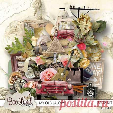 Винтаж, романтика и нежность в мега скрап-наборе My Old Jalopy