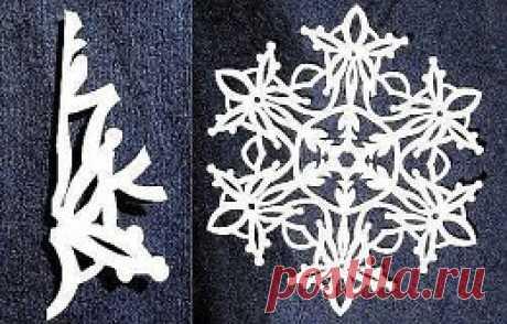 Оригинальные схемы новогодних снежинок