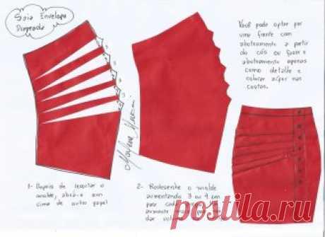Юбки с драпировкой и запахом.Размеры выкройки 36-56(евро)