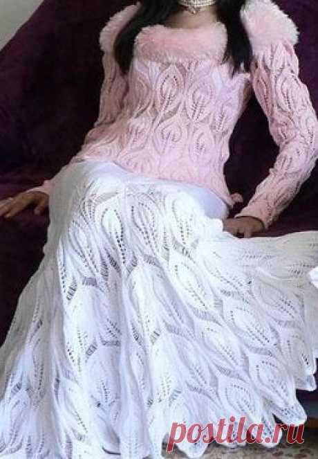Для Вас, стройняшки- Белая вязаная юбка спицами с листочками , 3 серия. / Вязание спицами / Вязание для женщин спицами. Схемы вязания и узоры вязания, модные модели вязаной одежды, новинки Просматривайте этот и другие пины на доске Юбки, платья, джемпера и прочая красота пользователя Marina Shumilova. Теги Для Вас, стройняшки- Белые вязаные юбки спицами, 3 серия / Вязание спицами для женщин.