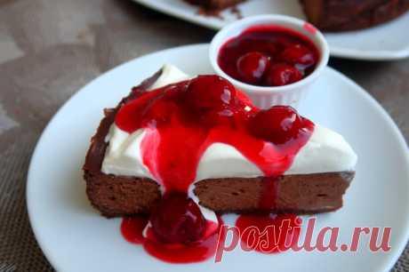 Шоколадный чизкейк с вишней — Мой кулинарный дневник