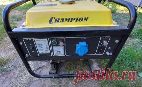 Осмотр состояния поршневой двигателя генератора Champion gg1300. | ElektroTechLife | Яндекс Дзен
