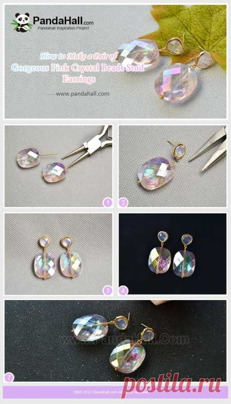 #PandaHall Inspiration Project----Gorgeous #Pink #CrystalBeads #StudEarrings #freetutorial #howto #earringsdiy  #jewelrymaking  PandaHall Beads App, download here>>>goo.gl/RAEuuP Free Coupons: PHENPIN5 (Save $5 for $70+) PHENPIN7(Save $7 for $100+) PandaHall Spring Promotion: UP TO 75% OFF, free Shipping over $349 from Feb.27-Mar.20,2018. Check here>>>goo.gl/YG9LPa
