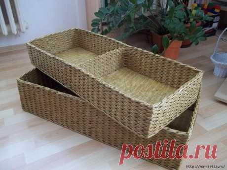 Плетение полезной и функциональной корзинки — Сделай сам, идеи для творчества - DIY Ideas
