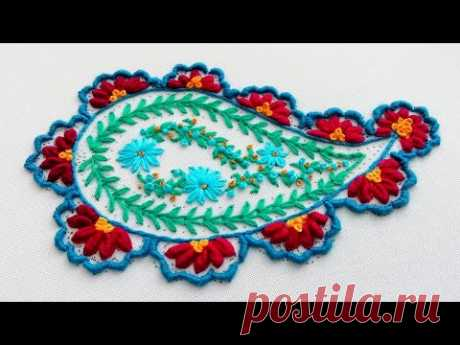 Paisley embroidery * new hand embroidery design #malina_gm