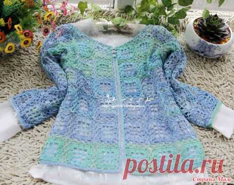 Openwork jacket from interesting motives. Hook. - KNITTED FASHION + FOR NOT MODEL LADIES - the Country of Mothers