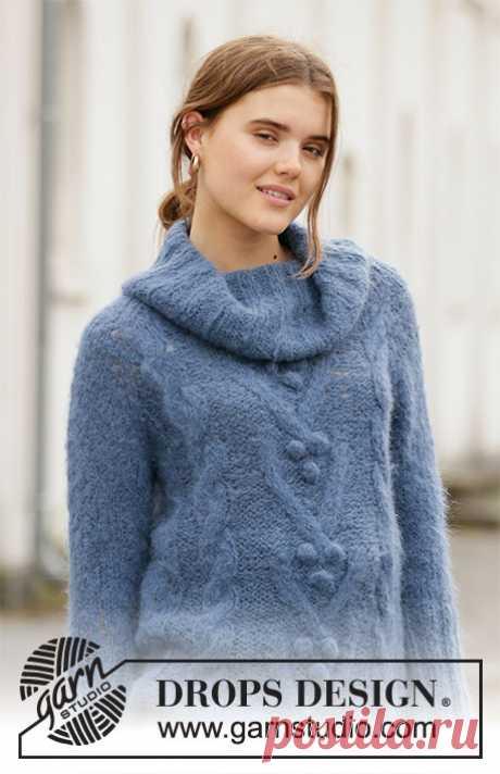Свитер Blue Melody от DROPS Design - блог экспертов интернет-магазина пряжи 5motkov.ru