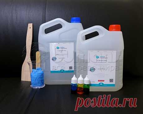 Эпоксидная смола ArtLine Crystal Epoxy 5 кг + 3 красителя