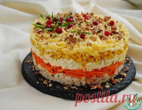 """Слоёный салат """"Фантазия"""" на праздничный стол – кулинарный рецепт"""