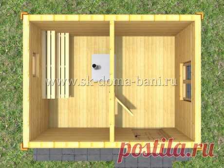 Недорогая баня на дачу 3х4 под ключ с печкой и фундаментом | Дома из бруса