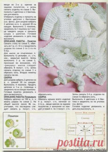 «вязание для детей от 0 до 3 лет с описанием и схемами спицами» — карточка пользователя tanya-19799 в Яндекс.Коллекциях
