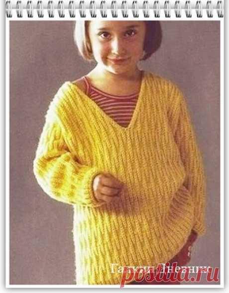 Галкин Дневник: Простой узор спицами для вязания джемпера (84)