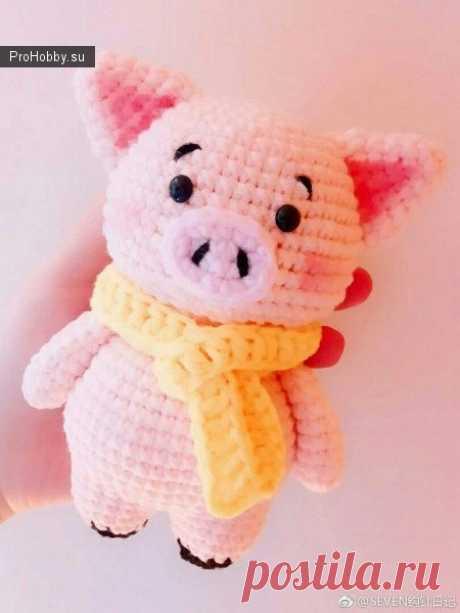 Розовая свинка крючком / Вязание игрушек / ProHobby.su   Вязание игрушек спицами и крючком для начинающих, мастер классы, схемы вязания
