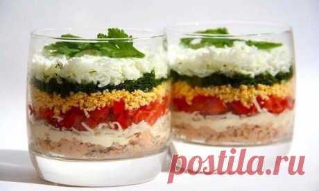 Легкий слоеный салат — Мегаздоров