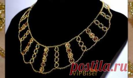 Sparkly Gold Beaded Necklace. 3D Tutorial