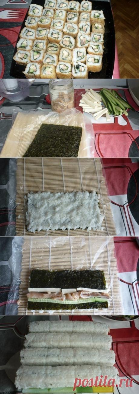 Como preparar tempurnye rolly - la receta, ingridienty y la fotografía