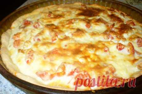 Кулинарная Академия Умных Хозяек: Песочный пирог с курицей, помидором и сыром П