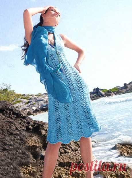 Сарафан спицами для женщин, 20 моделей с описанием и видео, Вязание для женщин