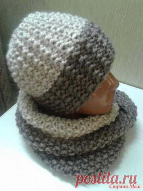 Winter set (a hat and snud) - Knitting - the Country of Mothers