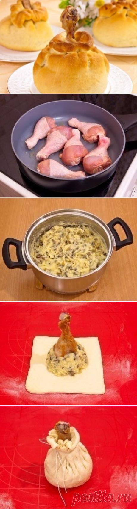 Как приготовить куриные ножки в мешочке - рецепт, ингридиенты и фотографии