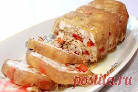 Домашняя ветчина из курицы с болгарским перцем — Sloosh – кулинарные рецепты
