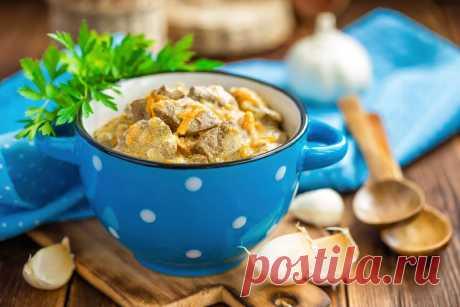 Вкусная куриная печень в сметанном соусе, которая тает во рту   Еда от ШефМаркет   Яндекс Дзен