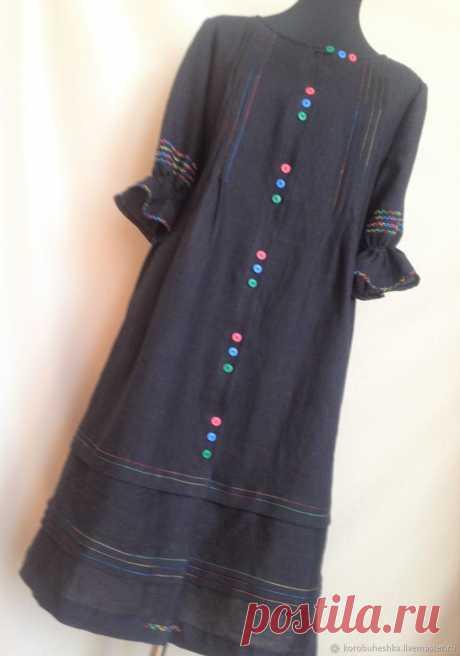 Льняное летнее платье бохо – купить на Ярмарке Мастеров – L8Z7SRU | Платья, Липецк