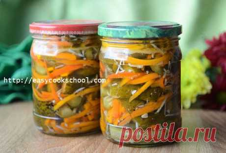 Огурцы по-корейски на зиму с приправой для корейской моркови | Легкие рецепты