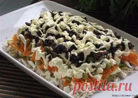 Очень вкусный салат с черносливом