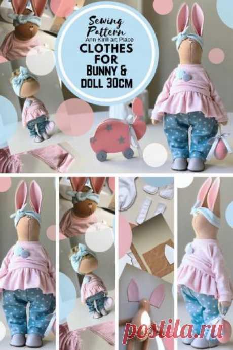 Sewing Pattern Bunny Clothes Bunny Cloth Tutorial Bunny DIY | Etsy