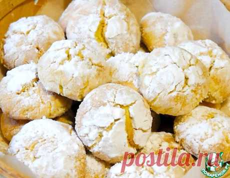 Лимонное печенье с трещинками – кулинарный рецепт