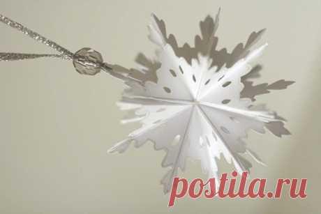 Советы от Подарков.ру | Объемная новогодняя снежинка