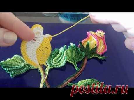Tutorial-2 Rosita a croche.Бутон las rosas кручком.2