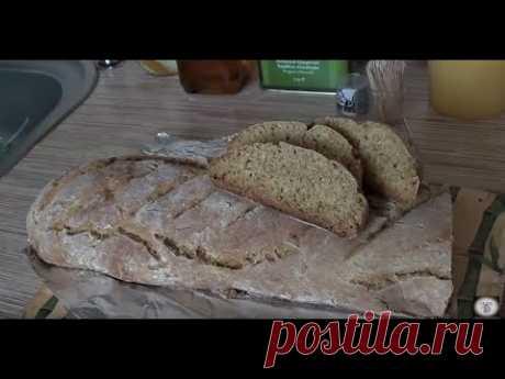 Бездрожжевой домашний пшенично ржаной  хлеб на кефире  от Марии .