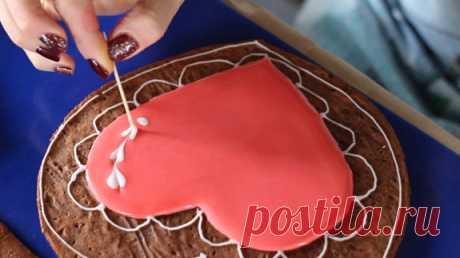 Как сделать съедобную шкатулку в виде сердца? Как подарить к Св.Валентину?