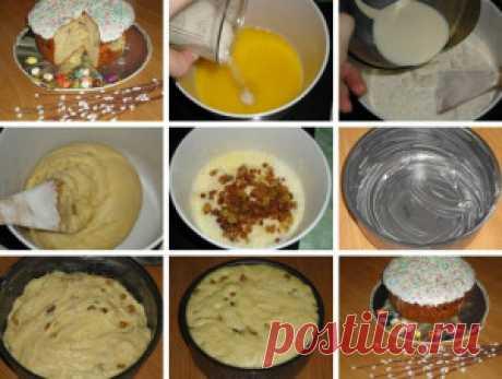 Самые проверенные рецепты - Пасхальный кулич на сметане