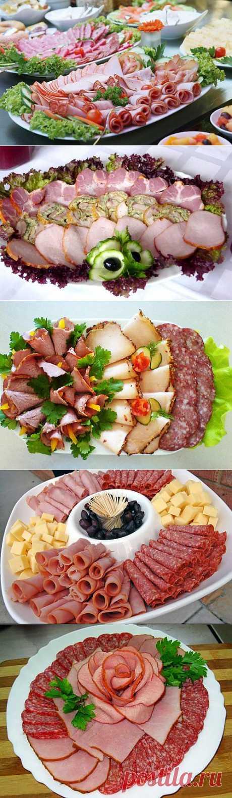 Красивое оформление мясных нарезок: идеи и примеры / Простые рецепты
